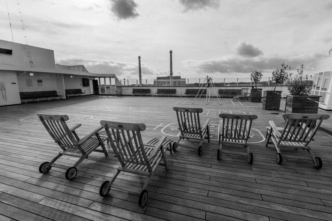 SS Rotterdam - Stoeltjes op het dek