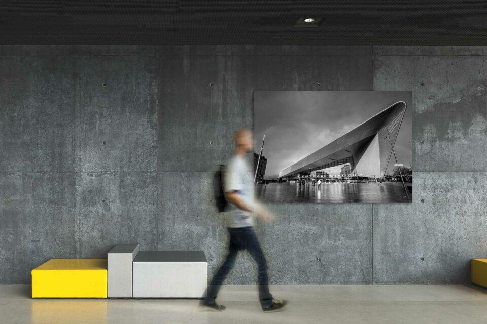 In zwaar weer - Centraal Station ZwartWti010©