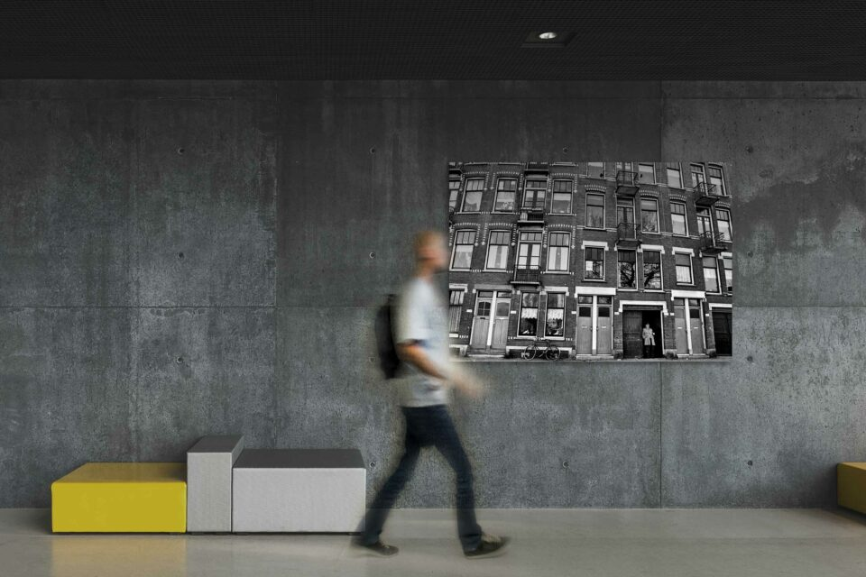 Rotterdam zwart wit foto van ©ZwartWit010. Frans Balkon Het oude Noorden