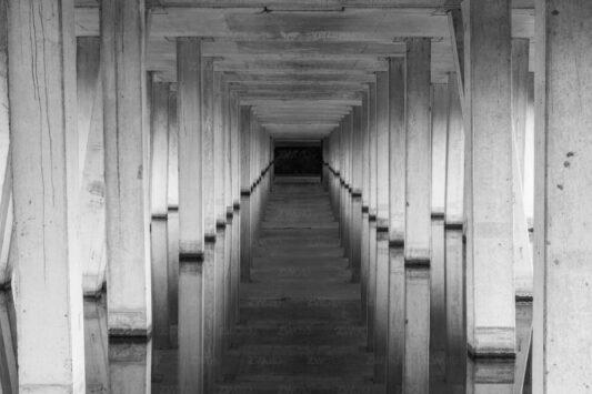 Rotterdam zwart wit foto van ©ZwartWit010. Fundament HSL