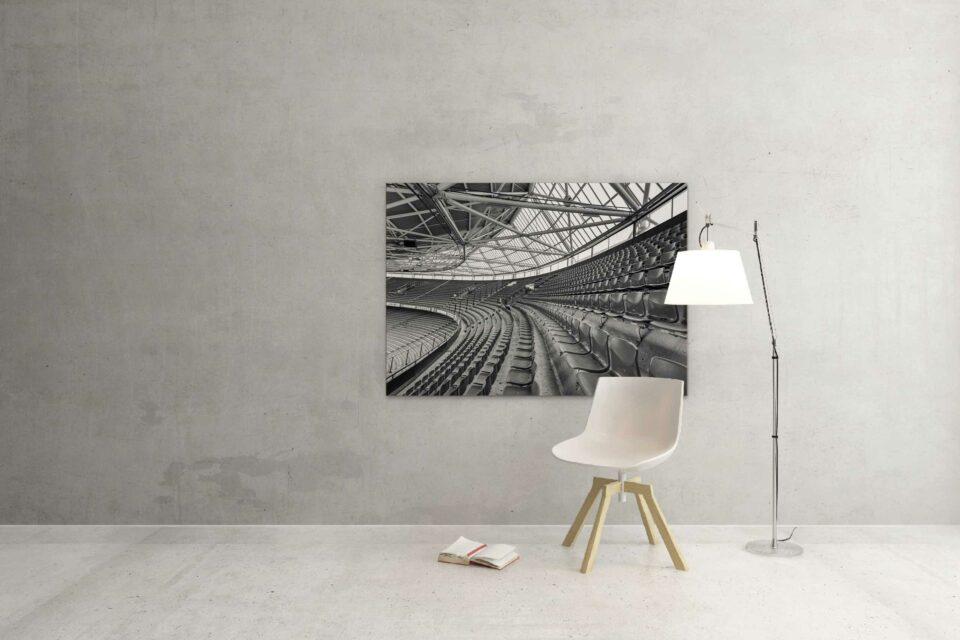 Rotterdam zwart wit foto van ©ZwartWit010. Feyenoord Kuip