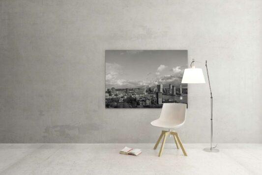 Rotterdam zwart wit foto van ©ZwartWit010. Rotterdam Skyline