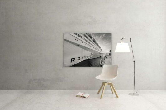 Foto van het SS Rotterdam | Stoomschip Rotterdam ZwartWit010©