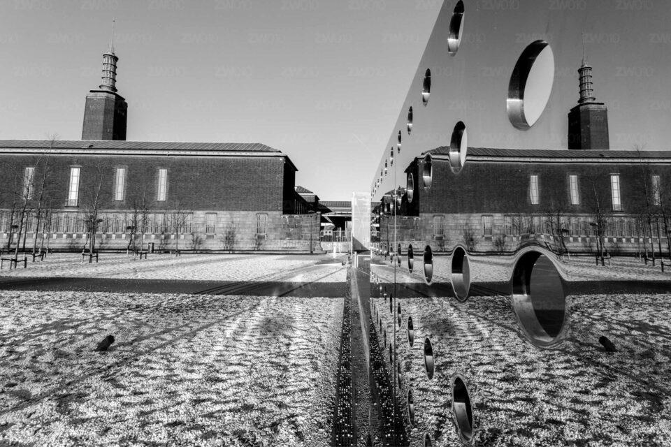 Rotterdam zwart wit foto van ©ZwartWit010. Booijmans van Beuningen