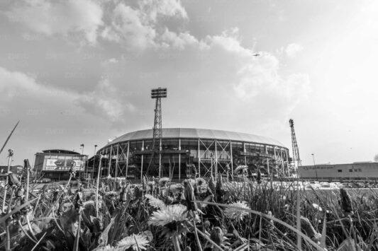 Rotterdam zwart wit foto van ©ZwartWit010. Feyenoord Kuip Bekerfinale 2018
