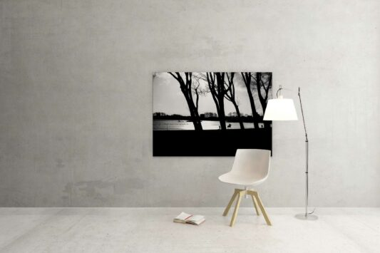 Rotterdam zwart wit foto van ©ZwartWit010. Kralingseplas