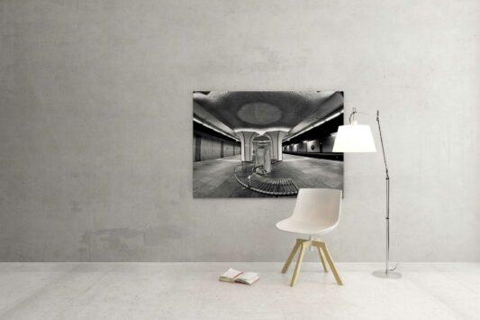 Rotterdam zwart wit foto van ©ZwartWit010. Rotterdam Metro
