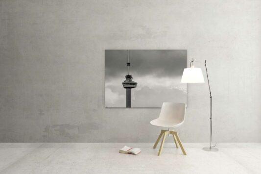 Rotterdam zwart wit foto van ©ZwartWit010. Euromast