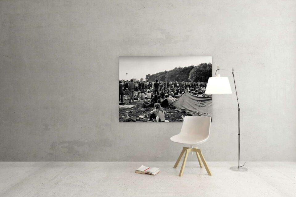 Rotterdam zwart wit foto van ©ZwartWit010. Holland Pop Festival