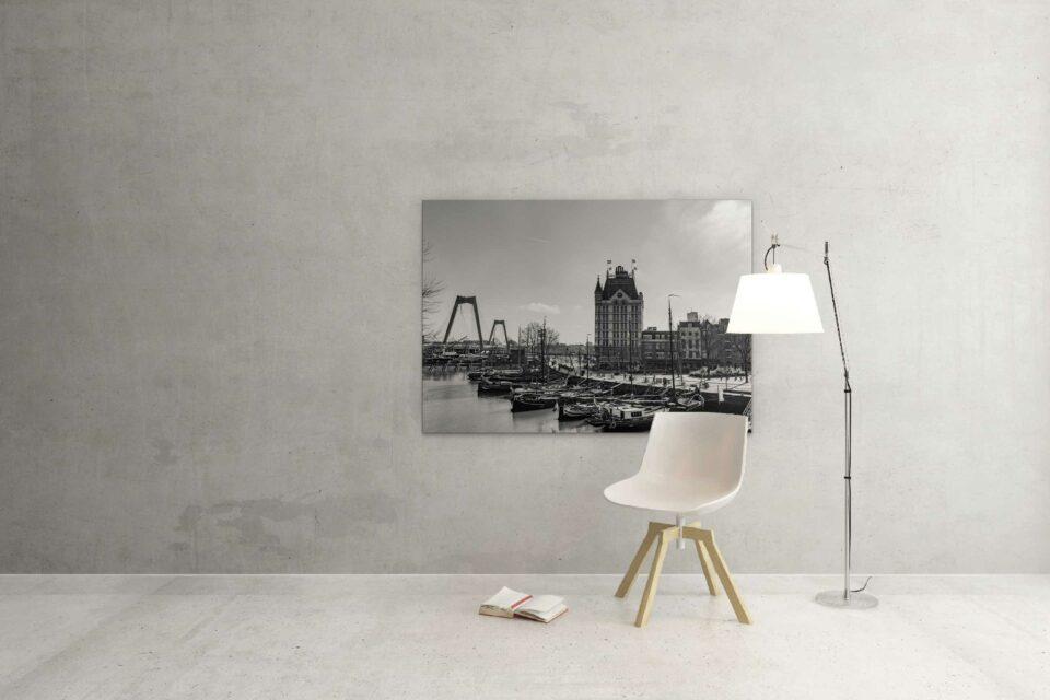Rotterdam zwart wit foto van ©ZwartWit010. Oude Haven Witte huis