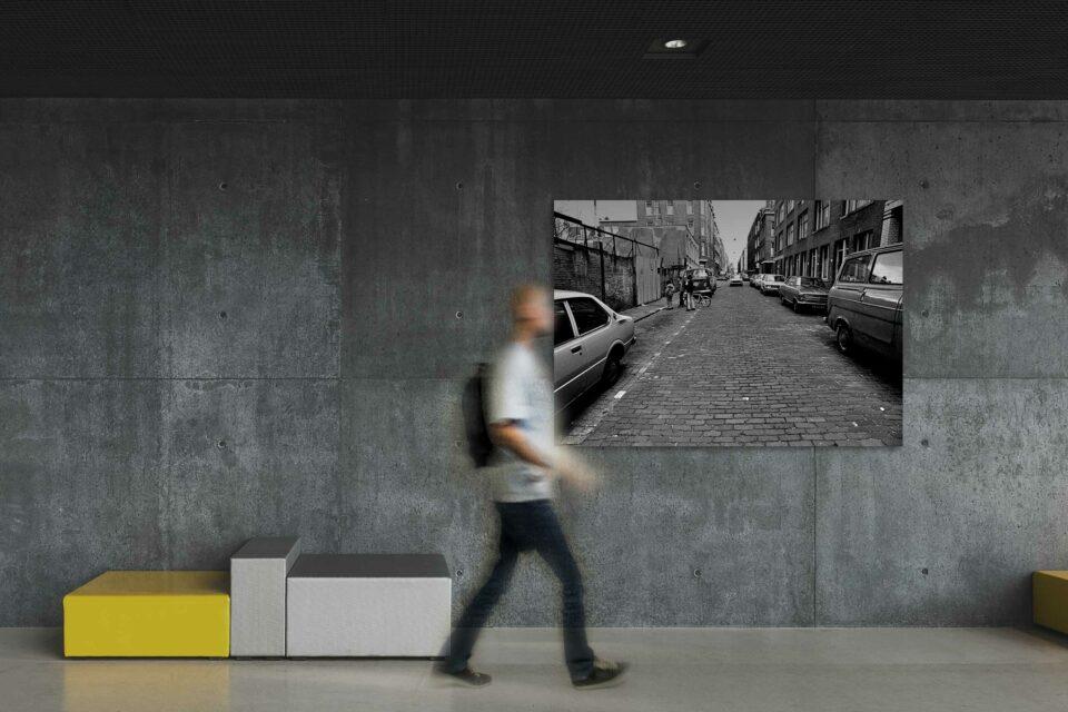 Rotterdam zwart wit foto van ©ZwartWit010. Rotterdam West jaren 70