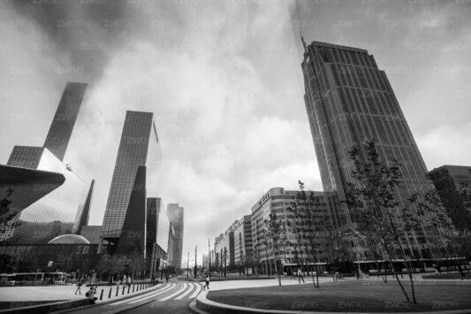 Skyline zwart wit foto Rotterdam ©ZwartWit010 Weena Rotterdam