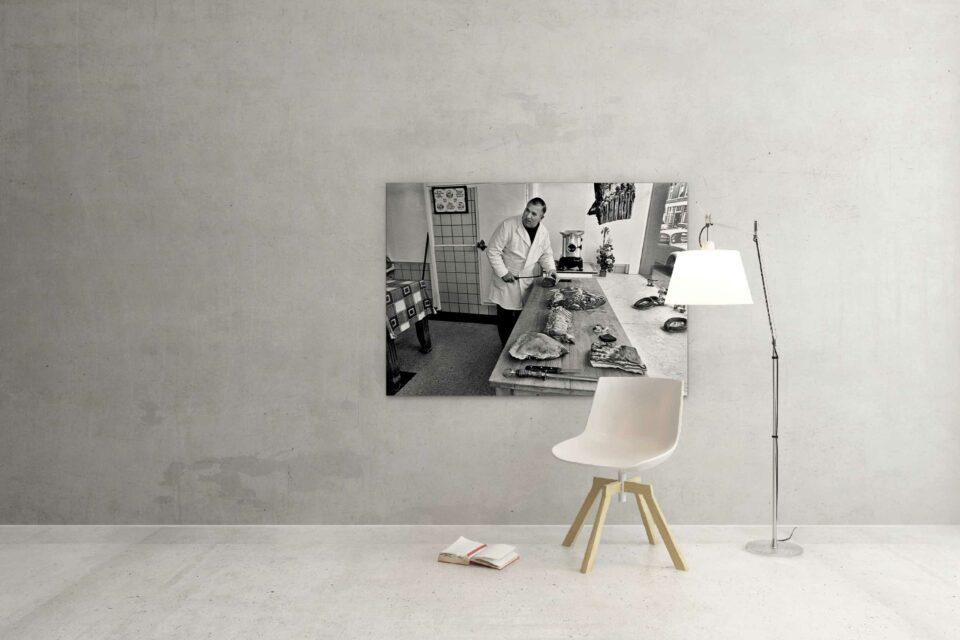 Rotterdam zwart wit foto van ©ZwartWit010. Slager Het oude Noorden