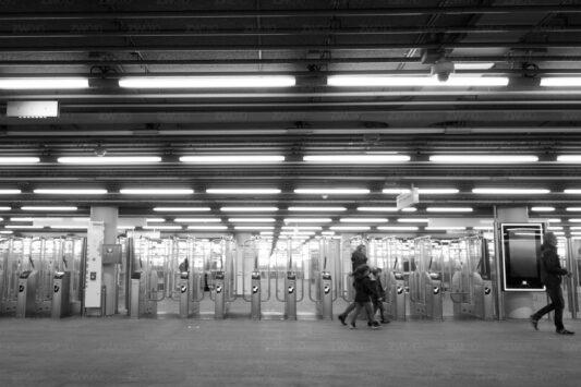 Rotterdam zwart wit foto van ©ZwartWit010. Metro CS