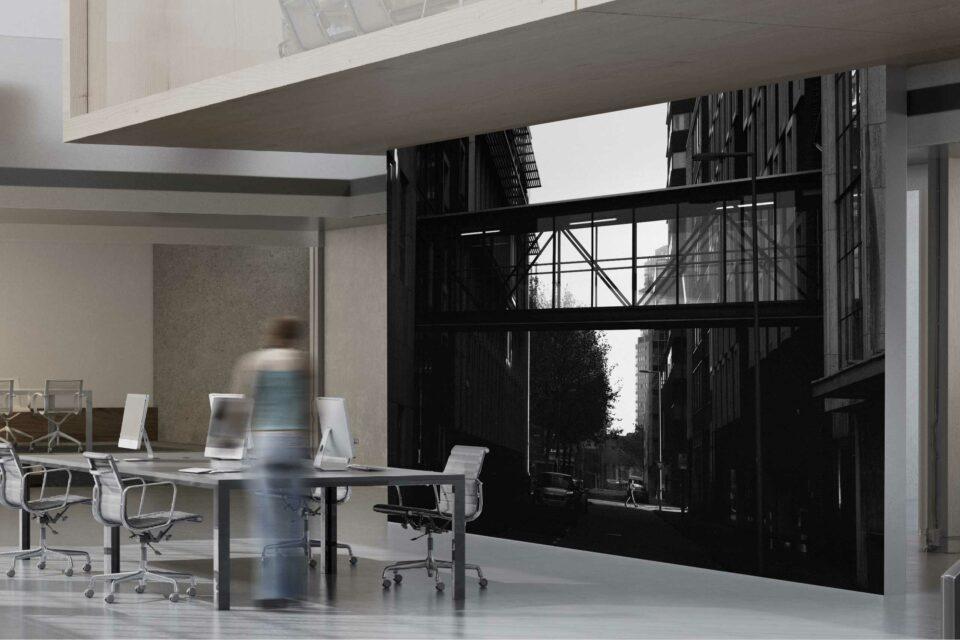Rotterdam zwart wit foto van ©ZwartWit010 Overbrugging