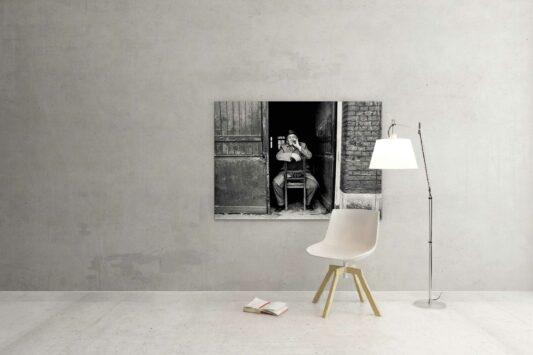 Rotterdam zwart wit foto van ©ZwartWit010. Oude Noorden jaren 70
