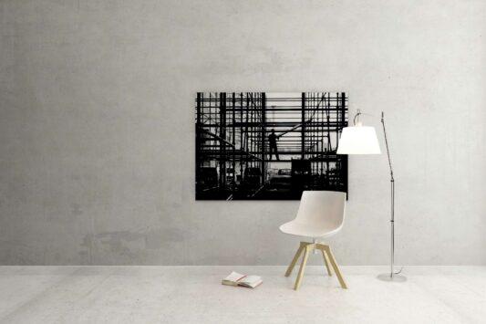 Rotterdam zwart wit foto van ©ZwartWit010. Bouw Steigerbuis