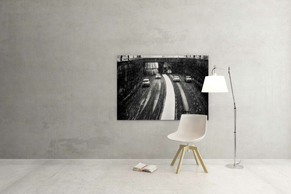 Rotterdam zwart wit foto van ©ZwartWit010. Tunneltracé – 's Gravendijkwal