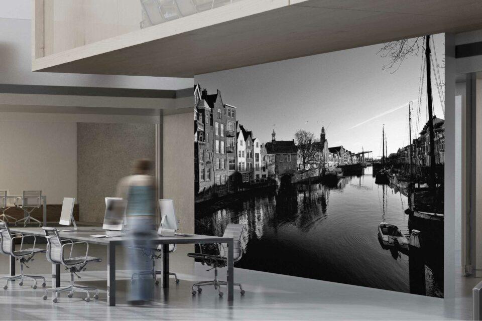 Rotterdam zwart wit foto van ©ZwartWit010. Historisch Delsfhaven