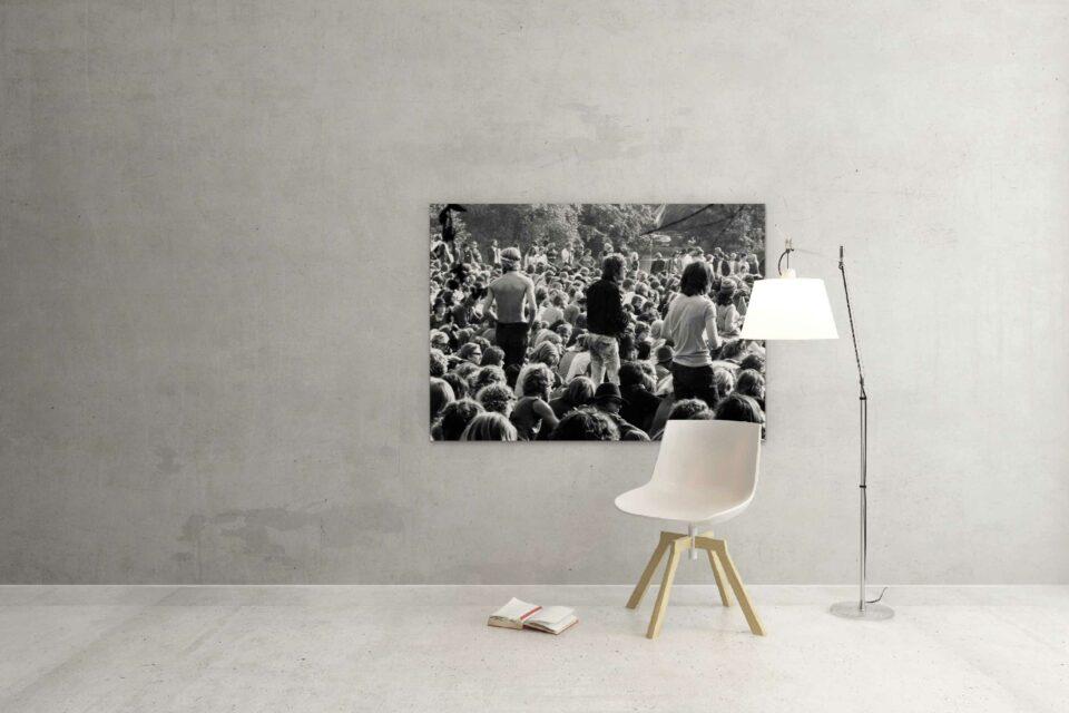 Rotterdam zwart wit foto van ©ZwartWit010. festival kralingse bos 1970