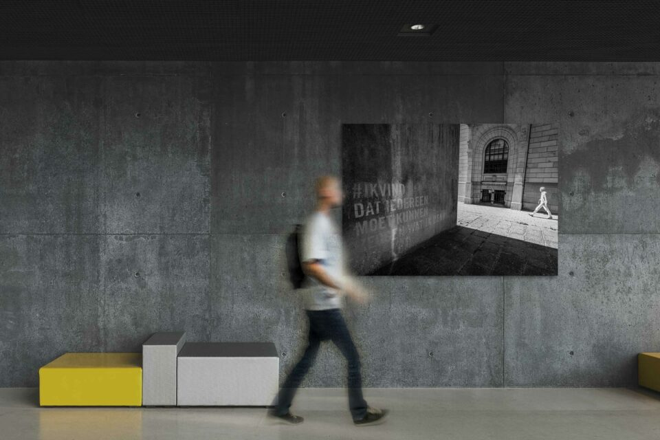 Rotterdam zwart wit foto van ©ZwartWit010. Atoombunker Coolsingel